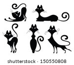 Set Of Various Black Cat...