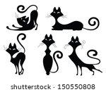 Set Of Various Black Cat...