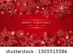 christmas background with... | Shutterstock .eps vector #1505515586
