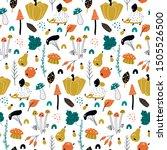 autumn. fall. trendy hand drawn ...   Shutterstock .eps vector #1505526500