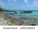 Old Pier In Curacao  Caribbean...