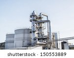 view of an industrial oil... | Shutterstock . vector #150553889