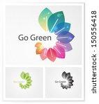 ecology business symbol.  green ... | Shutterstock .eps vector #150556418