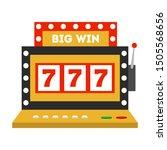 casino machine icon. game slot  ... | Shutterstock .eps vector #1505568656