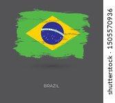 brazil colorful brush strokes... | Shutterstock .eps vector #1505570936