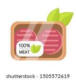 100  plant based meat in... | Shutterstock .eps vector #1505572619