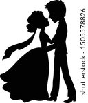 romantic wedding couple first... | Shutterstock .eps vector #1505578826