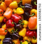 colorful peppers in the market  | Shutterstock . vector #1505582753