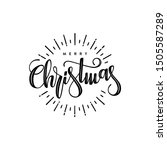 merry christmas. holiday vector ... | Shutterstock .eps vector #1505587289