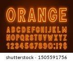 neon orange font  light... | Shutterstock .eps vector #1505591756