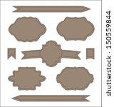 illustration set leather... | Shutterstock .eps vector #150559844