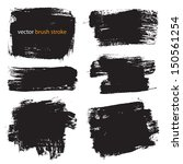 vector brush stroke vol 1 | Shutterstock .eps vector #150561254