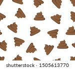 seamless pattern of a shit icon ...   Shutterstock .eps vector #1505613770