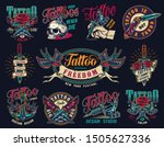 tattoo studio colorful vintage... | Shutterstock .eps vector #1505627336