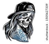 vintage chicano gangster girl... | Shutterstock .eps vector #1505627339