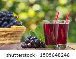 Fresh Grape Juice In Two...