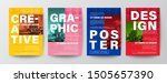set of creative graphic design... | Shutterstock .eps vector #1505657390
