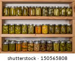 Storage Shelves In Pantry With...