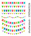 garland with flags. rainbow... | Shutterstock .eps vector #1505663126