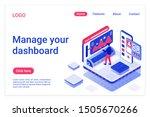 dashboard management isometric... | Shutterstock .eps vector #1505670266