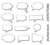 speech bubbles set. doodle... | Shutterstock .eps vector #1505670386