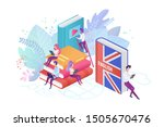 people learning english... | Shutterstock .eps vector #1505670476