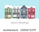 Cute Christmas Houses. Winter...