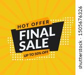 abstract final sale promotion... | Shutterstock .eps vector #1505676326