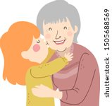 illustration of a kid girl... | Shutterstock .eps vector #1505688569