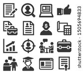 employment and job resume icons ... | Shutterstock .eps vector #1505694833