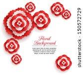 romantic floral background... | Shutterstock .eps vector #150572729