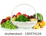 different fruits and vegetables ... | Shutterstock . vector #150574124