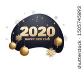 happy new year 2020 place for... | Shutterstock .eps vector #1505745893