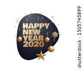 happy new year 2020 place for... | Shutterstock .eps vector #1505745899