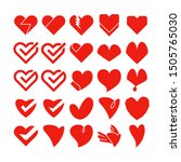red love and  heart icons... | Shutterstock .eps vector #1505765030
