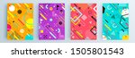 modern abstract covers set ... | Shutterstock .eps vector #1505801543