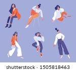 vector set of  illustrations in ... | Shutterstock .eps vector #1505818463