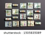 colored background with money...   Shutterstock . vector #1505835089