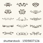 vector set of decorative... | Shutterstock .eps vector #1505837126