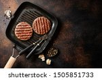 Grilled Appetizing Burger Meat...
