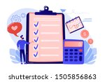 financial analyst planning at... | Shutterstock .eps vector #1505856863