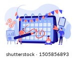 colleagues preparing for... | Shutterstock .eps vector #1505856893