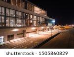 M Laga Airport At Night  Spain