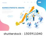 isometric web business concept...   Shutterstock . vector #1505911040