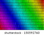 Brick Wall Texture Painted Wit...