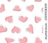 seamless pattern rambling pink... | Shutterstock .eps vector #1505928359