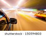 car driving fast   Shutterstock . vector #150594803