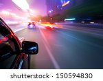 car driving fast | Shutterstock . vector #150594830
