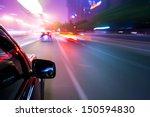 car driving fast | Shutterstock . vector #150594830