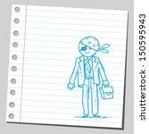 pirate businessman | Shutterstock .eps vector #150595943